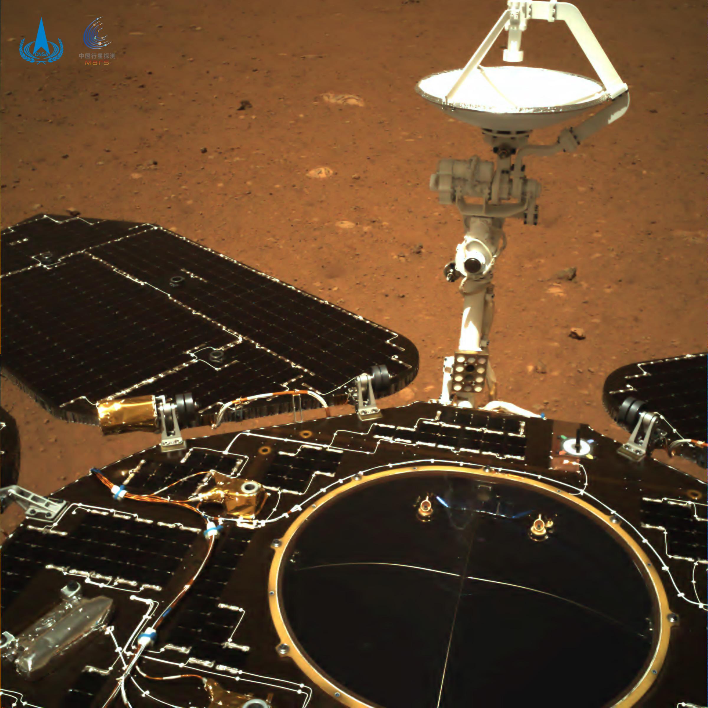 El vehículo de exploración chino en Marte