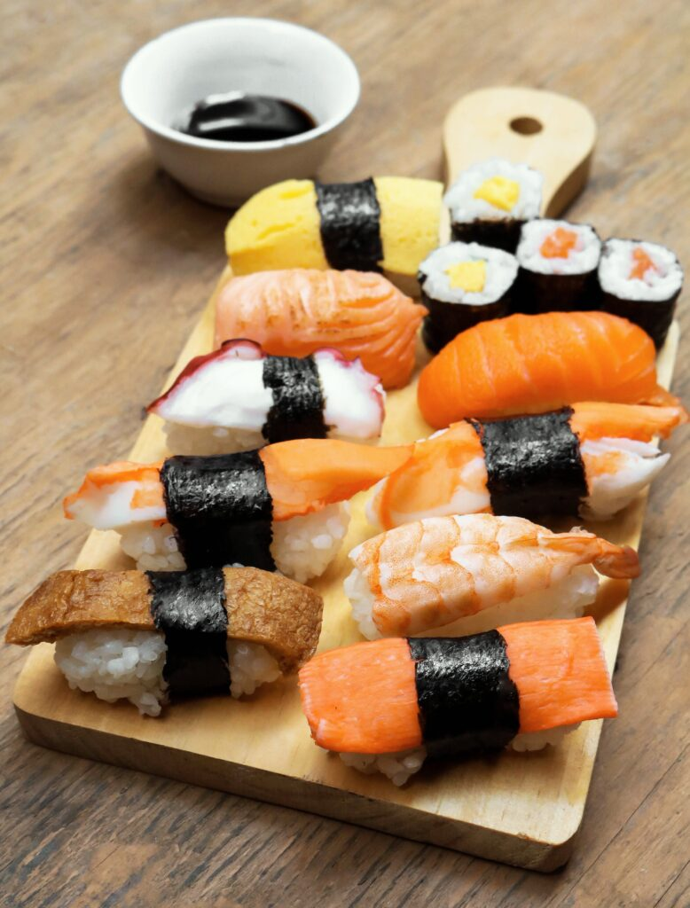 algas marinas sushi
